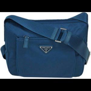 Handbags - 100% authentic Prada Tessuto BT0909 crossbody bag!
